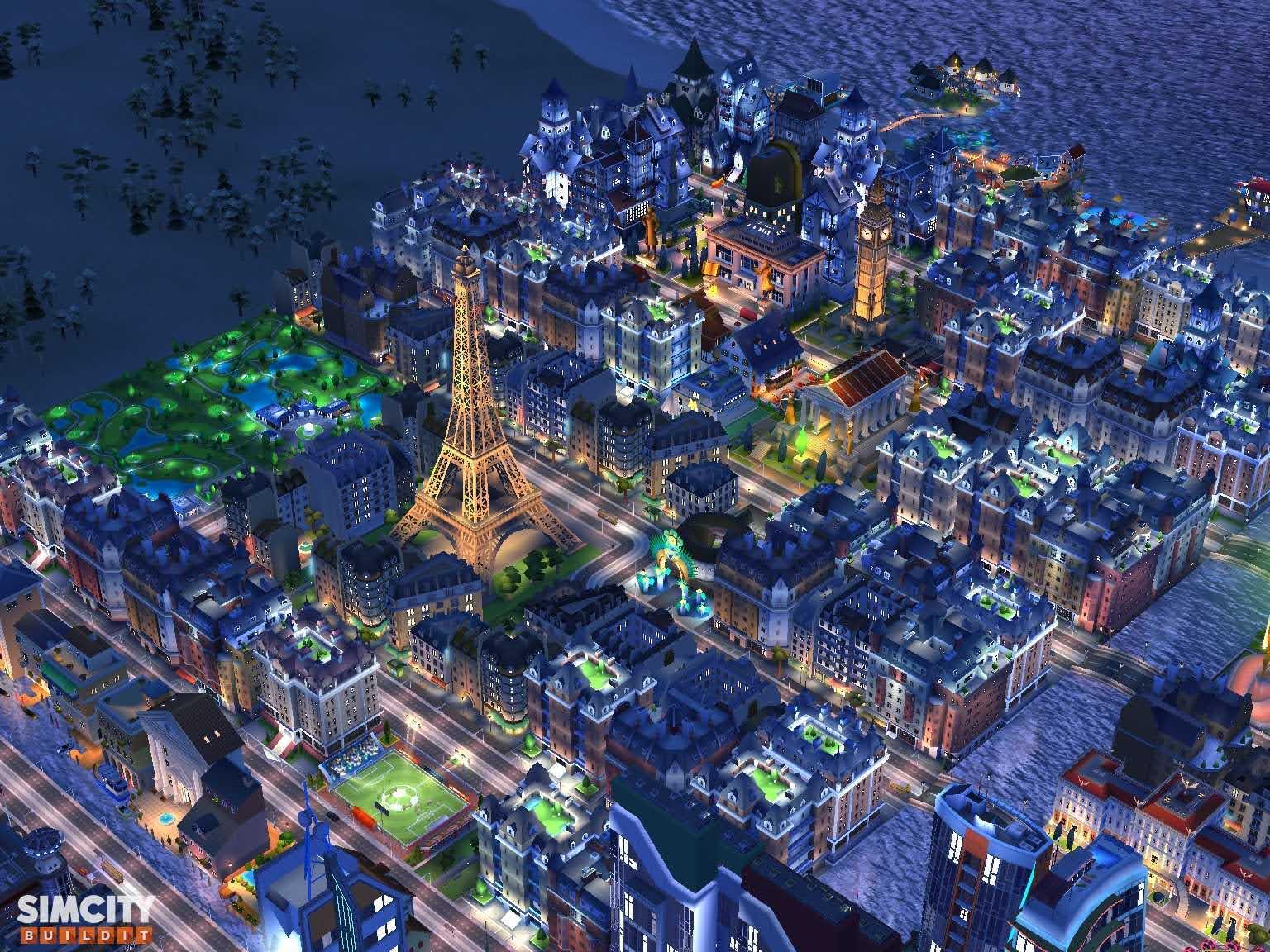 Birds eye view of the Eiffel Tower